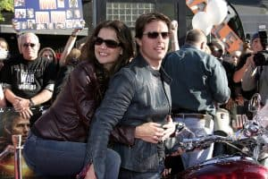 """Tom Cruise and Katie Holmes attend at the """"War of the Worlds"""" Fan Screening"""